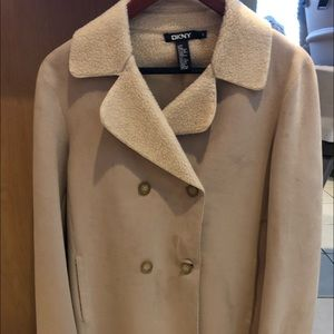 Never worn Large DKNY suede jacket